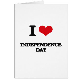 I Love Independence Day Greeting Card