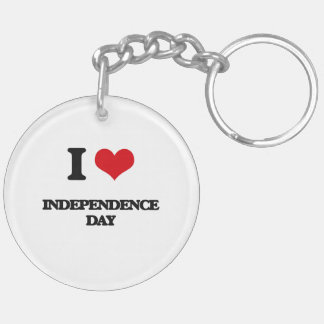 I Love Independence Day Key Chains