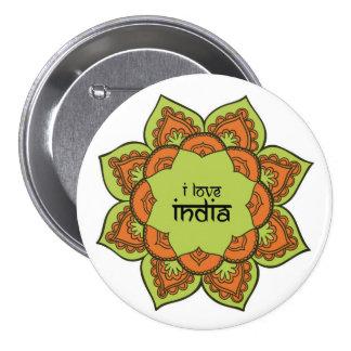 I Love India 7.5 Cm Round Badge