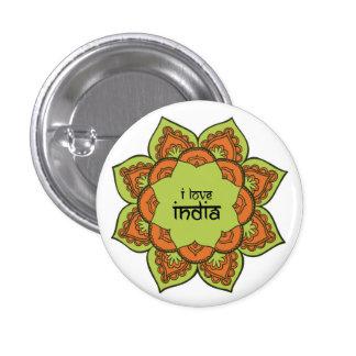 I Love India 3 Cm Round Badge