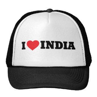 I Love India Cap
