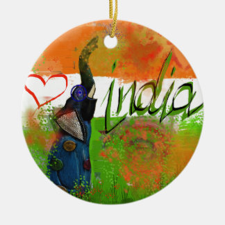 I love India Christmas Ornament
