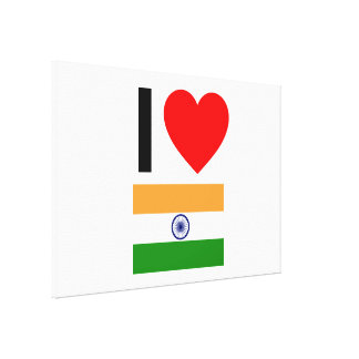 i love india gallery wrapped canvas