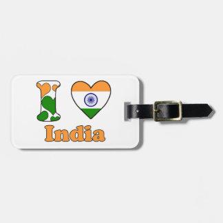 I love India Luggage Tag