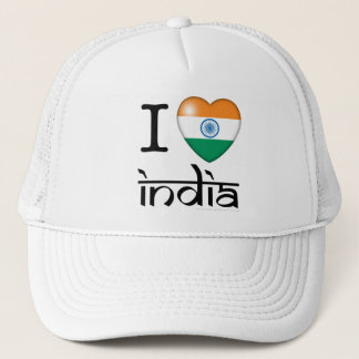 I Love India Trucker Hat
