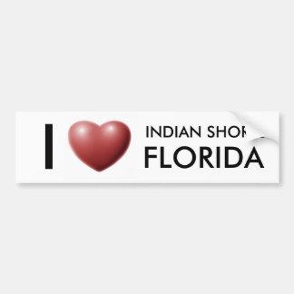 I LOVE INDIAN SHORES, FLORIDA BUMPER STICKER