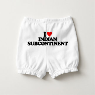 I LOVE INDIAN SUBCONTINENT NAPPY COVER