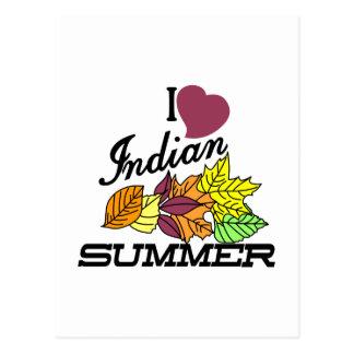 I Love Indian Summer Postcard