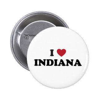 I Love Indiana 6 Cm Round Badge
