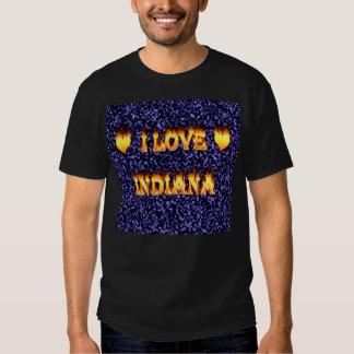 i love indiana fire and flames blue shirt