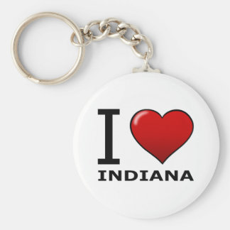 I LOVE INDIANA KEY RING