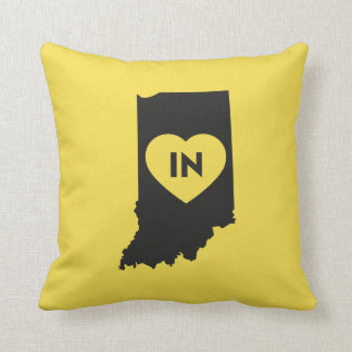 I Love Indiana State Throw Pillow