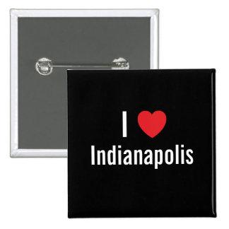 I love Indianapolis 15 Cm Square Badge
