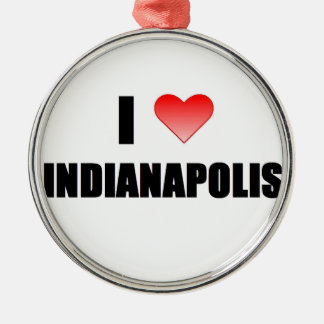 I Love Indianapolis Christmas Ornaments