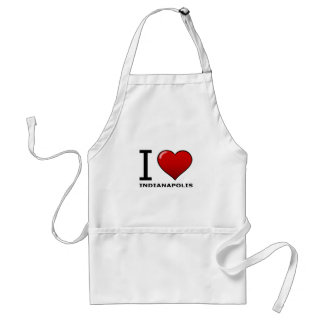 I LOVE INDIANAPOLIS,IN - INDIANA STANDARD APRON