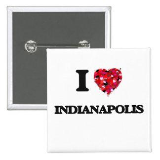 I love Indianapolis Indiana 15 Cm Square Badge