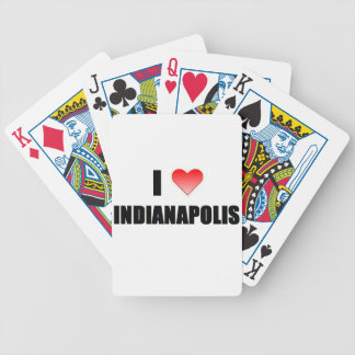 I Love Indianapolis Bicycle Card Decks