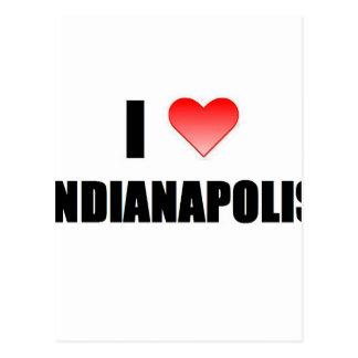 I Love Indianapolis Postcard