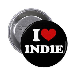 I Love Indie 6 Cm Round Badge