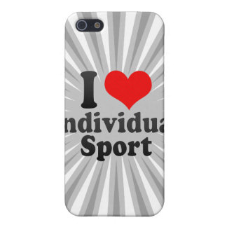 I love Individual Sport iPhone 5/5S Covers
