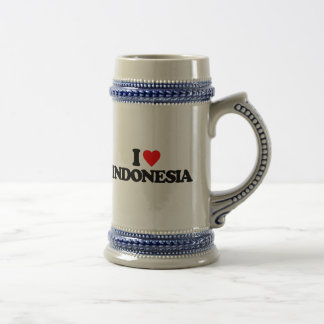 I LOVE INDONESIA BEER STEINS