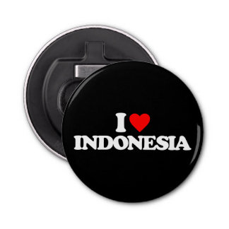 I LOVE INDONESIA BOTTLE OPENER