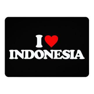 I LOVE INDONESIA 13 CM X 18 CM INVITATION CARD