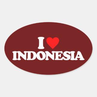 I LOVE INDONESIA OVAL STICKER