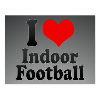 I love Indoor Football Postcard