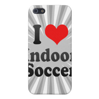 I love Indoor Soccer Cover For iPhone 5