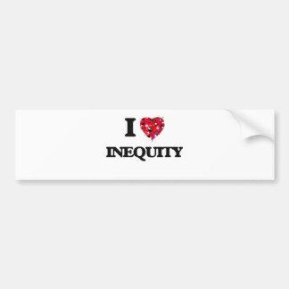 I Love Inequity Bumper Sticker