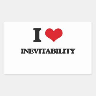 I Love Inevitability Rectangle Stickers