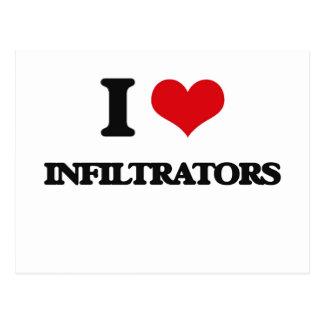 I Love Infiltrators Post Card