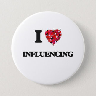 I Love Influencing 7.5 Cm Round Badge