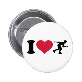 I love Inline skating 6 Cm Round Badge