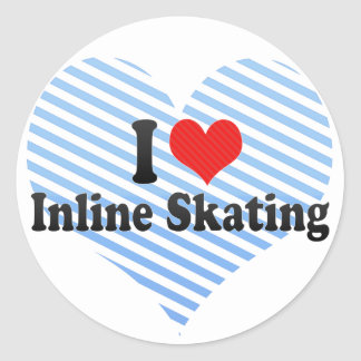 I Love Inline Skating Stickers