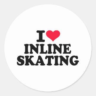 I love Inline Skating Sticker
