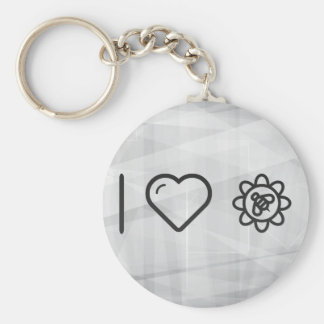 I Love Insect Basic Round Button Key Ring