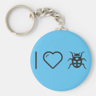 I Love Insects Basic Round Button Key Ring
