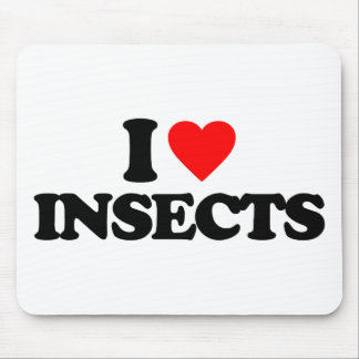 I LOVE INSECTS MOUSE PAD
