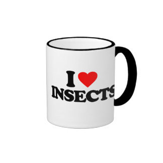 I LOVE INSECTS RINGER MUG