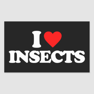 I LOVE INSECTS RECTANGULAR STICKER