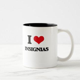 I Love Insignias Coffee Mugs