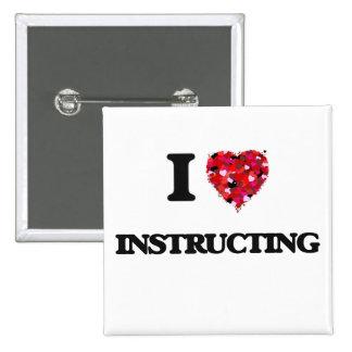 I Love Instructing 15 Cm Square Badge