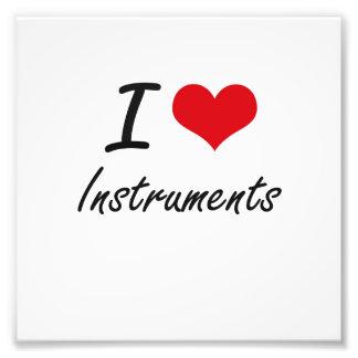 I Love Instruments Art Photo