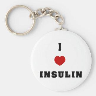 I Love Insulin Basic Round Button Key Ring