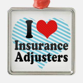 I Love Insurance Adjusters Christmas Ornament