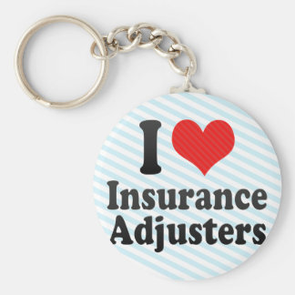 I Love Insurance Adjusters Key Ring