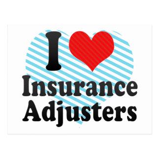 I Love Insurance Adjusters Postcard