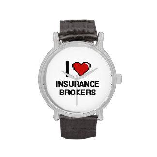 I love Insurance Brokers Wristwatch